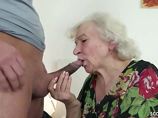 GERMAN ORDERLY CAUGHT GRANNIE JERK AND HELP Everywhere POKE