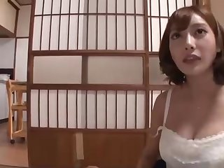 Japanese stunner with enormous boobs and many filthy ideas on her mind is hotwife on her accomplice