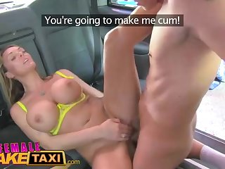 Wondrous light-haired gal is working as a cab driver and regularly getting pounded first of all her car