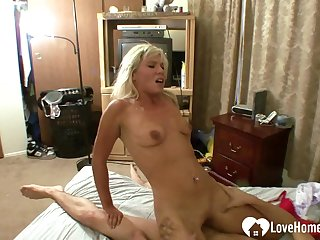 Blonde wife loves his big hard cock