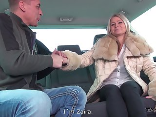 MILF Zaira by oneself loves car fucking with strangers