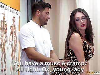 All lubed charming nympho Estrellita turns massage into cock riding workout