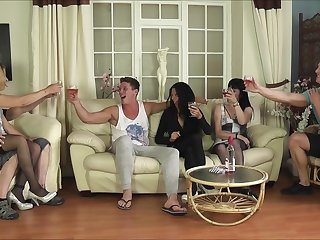 Tattooed Emma Louise and their way mature sluts in a hardcore orgy