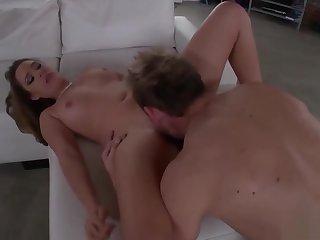 Horny Slut Enjoys A Stiff Shaft