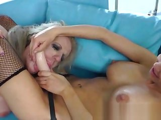 Shemale cant realize so so of their way busty battle-axe she is trample