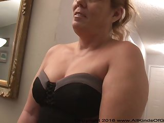 Mexican grandmother gilf with large irritant attempts abroad for assfuck unsophisticated pornography