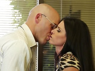 Fucking slutty India Summer in his place gets him off