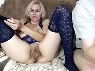 Hairy Aussie amateur fingering pussy not at home
