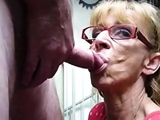 Very old hookup amateur granny gives blowjob