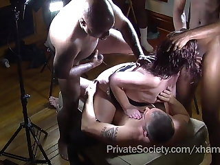 The Private Society Gangbang Drained For Lonely Housewives