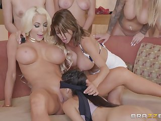 Hot breasty pornstars taste each others messy pussies
