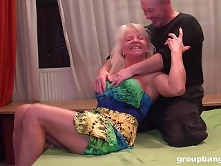 Busty wife always wanted to be fucked by two dicks coupled with loves well supplied