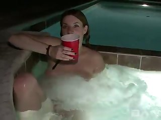 After relaxing prevalent the Jacuzzi she starts masturbating with love