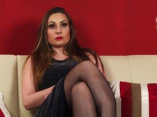 British kinky milf respecting stockings and heels