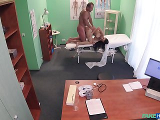 Energized babe fucked by the doctor and taped down secret