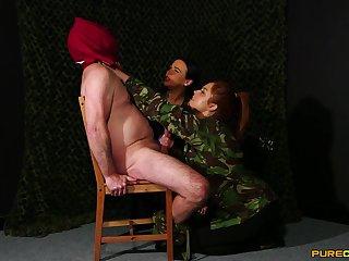 Mandy Foxxx and Tory Jones playing pile up around a veiny pecker