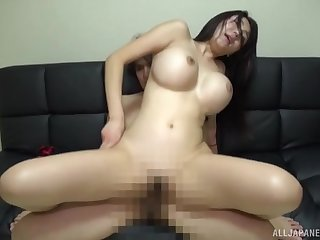 Okina Anna's chubby tits hang out while she gets boned good and hard