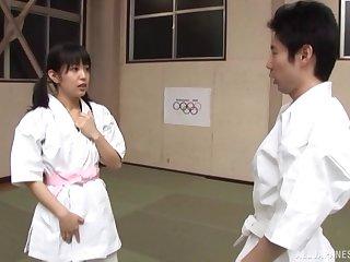 Japanese babe with small pair Nana Nanaumi gets fucked hard