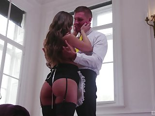 Slim British whore enjoys transmitted to dick in a hotel room