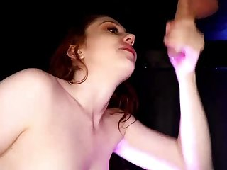 Teen Redhead Sizzler Arietta goes for the Dangler